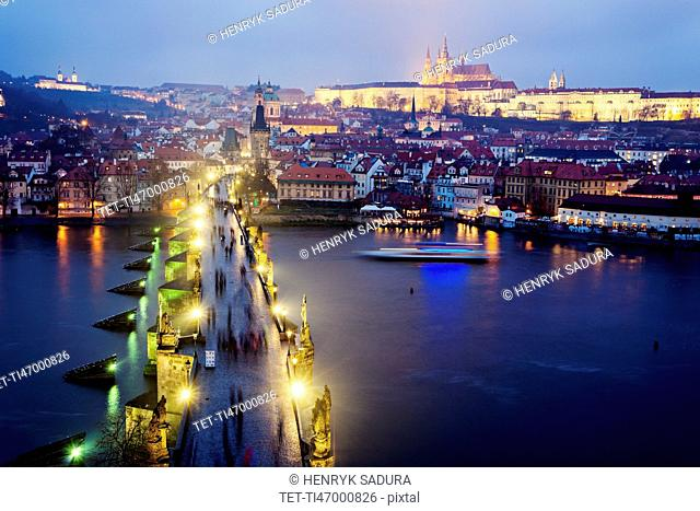 Charles Bridge and Hradcany Castle