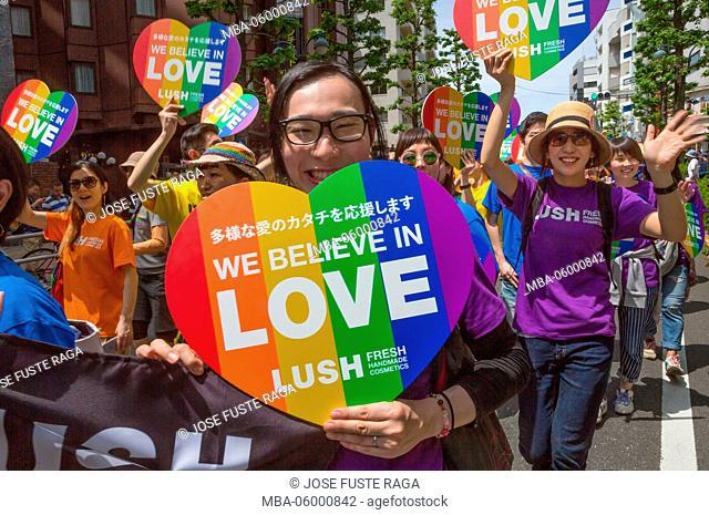 Japan, Tokyo City, Shibuya District, Gay Pride Parade