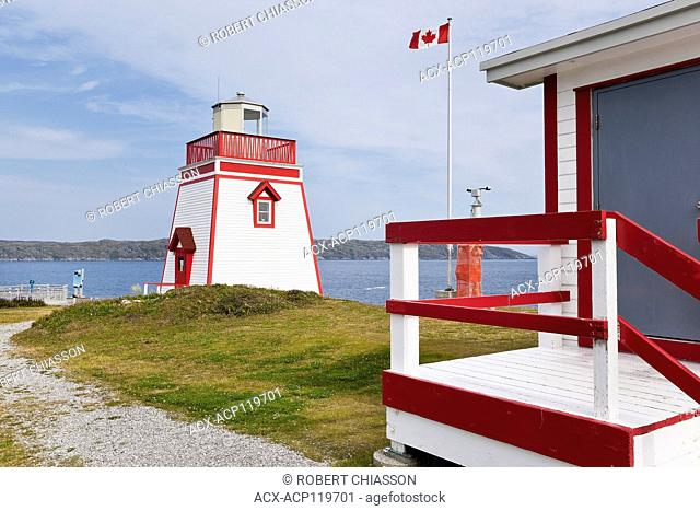 Lighthouse at Fishing Point in St. Anthony, Newfoundland, Canada