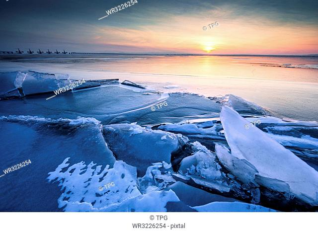 Ice of the Yellow River-Wuhai