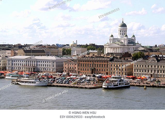 View of Helsinki harbor, Finland