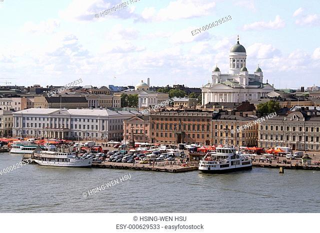View of Helsinki harbor, Finland