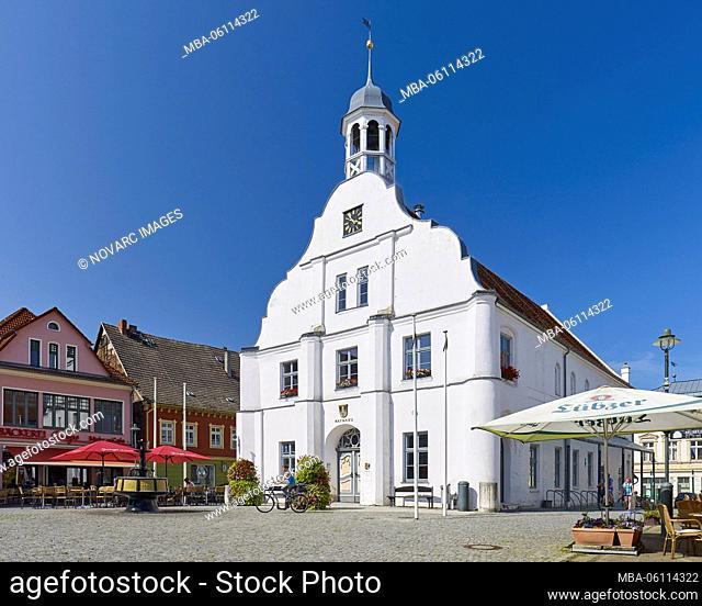 Old city hall in Wolgast, Mecklenburg-Western Pomerania, Germany