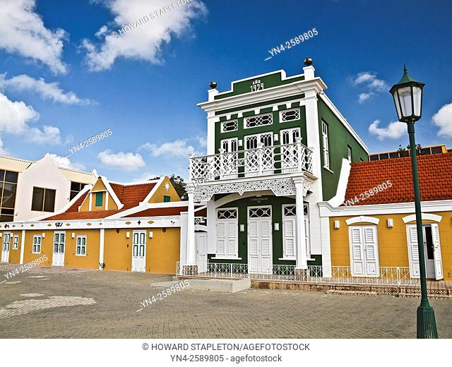 National Archaeological Museum of Aruba at Oranjestad. Built in 1929 this is an example of Dutch Colonial Architecture
