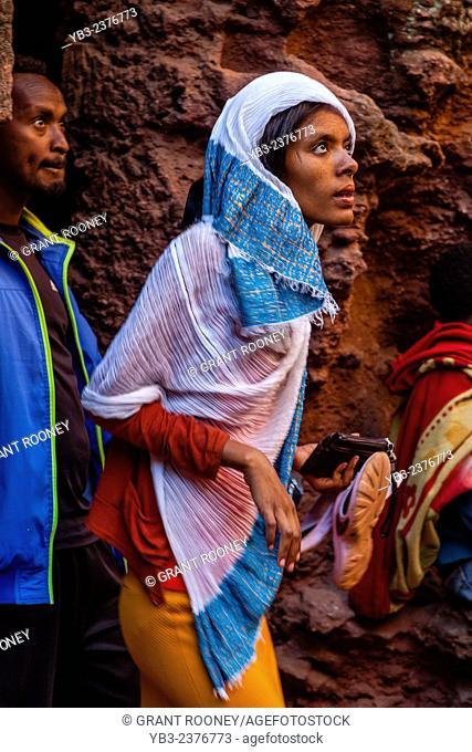 A Christian Pilgrim, Lalibela (Christmas Time), Ethiopia