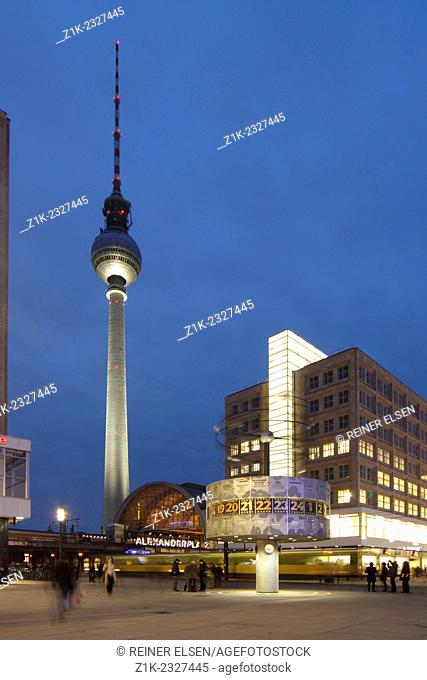 Berlin Television Tower Alexander square World Time Clock