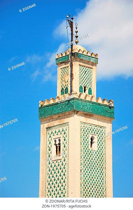 Minaret of the mosque Kairaouine, Medina in Fez, Morocco, Africa