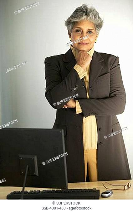 Portrait of a businesswoman standing in an office