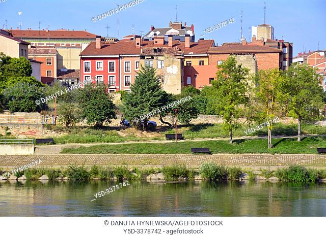 Miranda de Ebro view across Ebro river, Burgos province, Castile and León, on the border with the province of Álava and the autonomous community of La Rioja