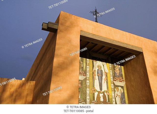 Adobe church at St. Francis College, Santa Fe, NM/USA