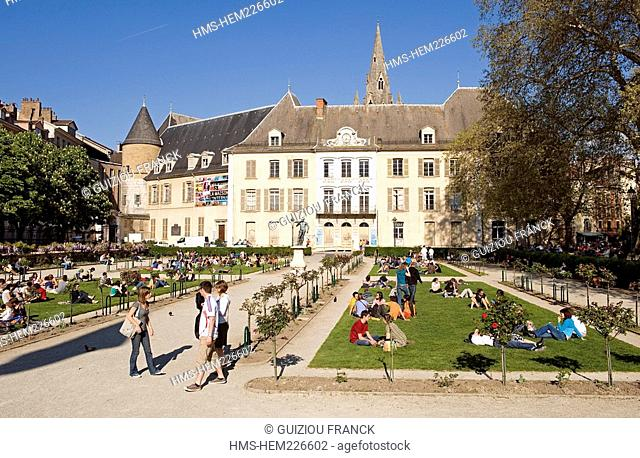 France, Isere, Grenoble, Jardin de Ville and Stendhal Museum Former Hotel Lesdiguieres