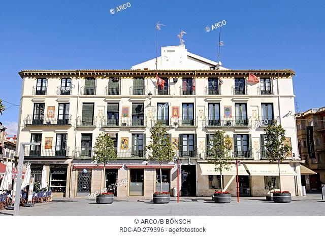 Plaza de los Fueros, square, Tudela, Navarra, Spain