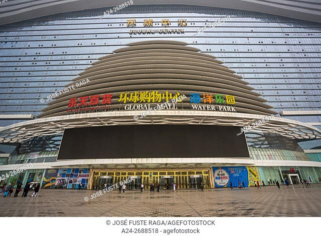 China, Sichuan Province, Chengdu City, Global Center , Shopping Mall, Water Park