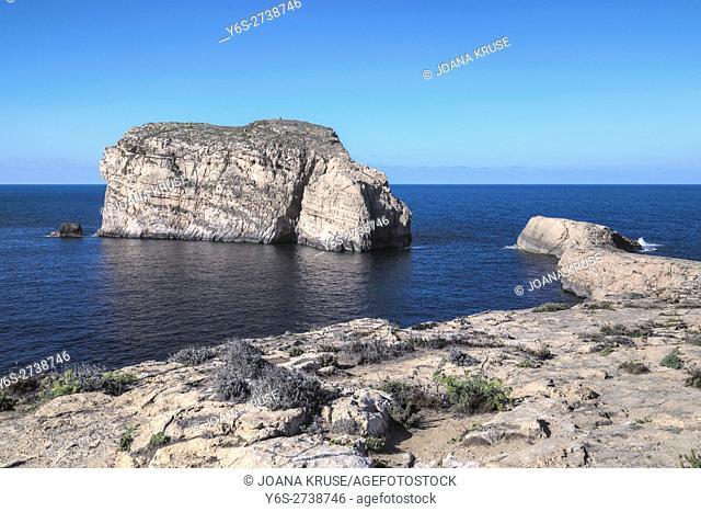 Fungus Rock, Dwejra Bay, Gozo, Malta