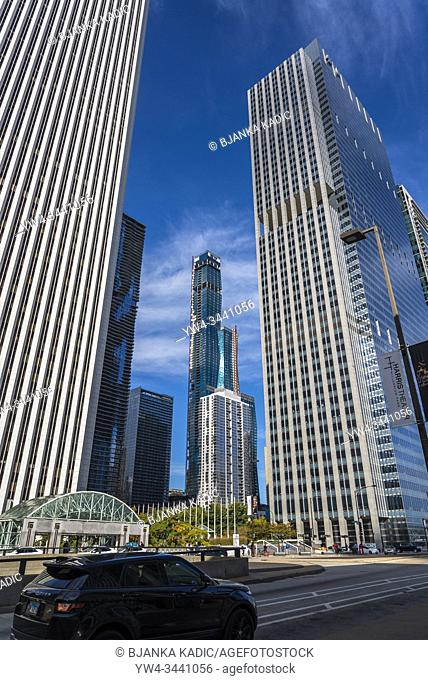 The Aon Center, and Blue Cross and Blue Shield of Illinois, Chicago, Illinois, USA