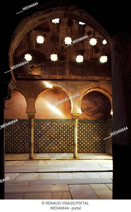 Comares Bath in the Alhambra. Granada. Andalusia. Spain