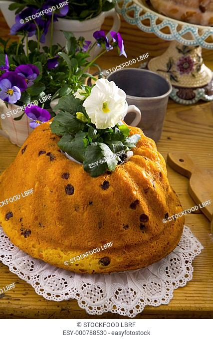Baba with raisins Polish Easter cake