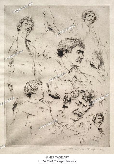 James MacNeill Whistler. Creator: Mortimer Menpes (British, 1860-1938)