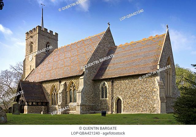 England, Hertfordshire, Brent Pelham. St Mary the Virgin Church in the village of Brent Pelham
