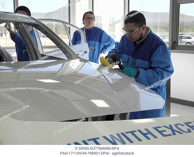 The future BMW employees are trained at the apprenticeship center of the new factory in San Luis Potosi, Mexico, 7 November 2017