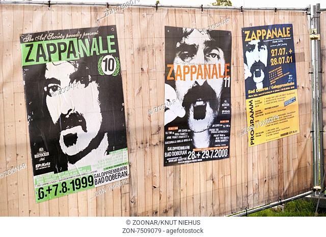 Poster at the 26. Zappanale in Bad Doberan, Germany, 2015 July 17