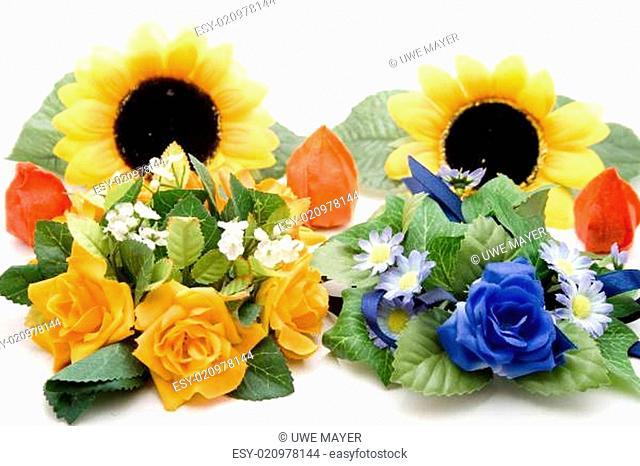 Rosen mit Sonnenblume