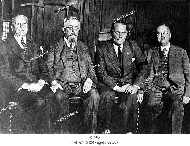 Presidium of the Reichstag after the election won by the National Socialists on the 31st of July in 1932 (l-r): Graef (German National People's Party)