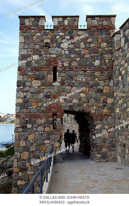 Bulgaria, Europe, Sozopol, Medieval Town, Historic South Fortress Stone Wall