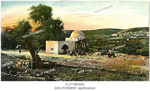 Rachel's Tomb, Bethlehem, Postcard, circa 1910