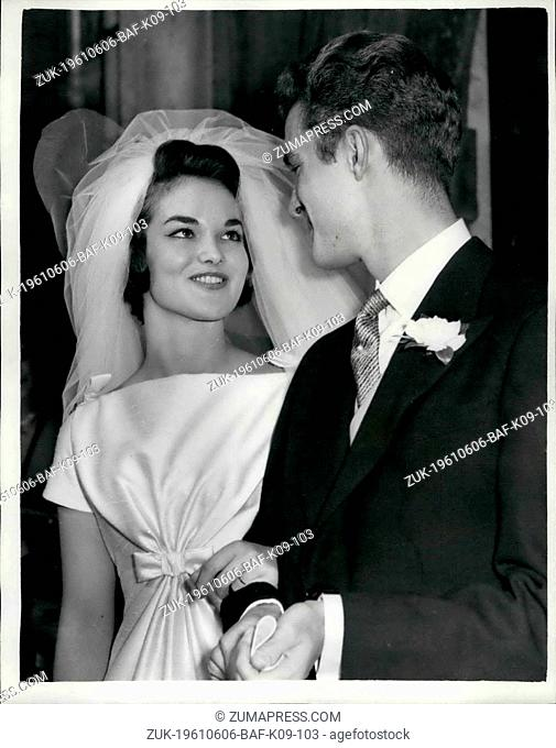 Jun. 06, 1961 - Wedding of Henrietta Tiarks to the son of the Duke of Bedford: The wedding took place this afternoon at St