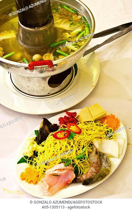 Steamed boat  Vietnam House Restaurant. Ho Chi Minh City (formerly Saigon). South Vietnam