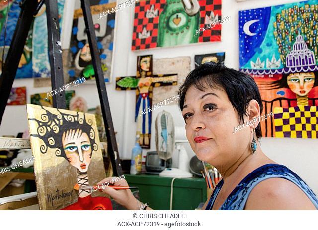 Artist, Havana Vieja, Havana, Cuba