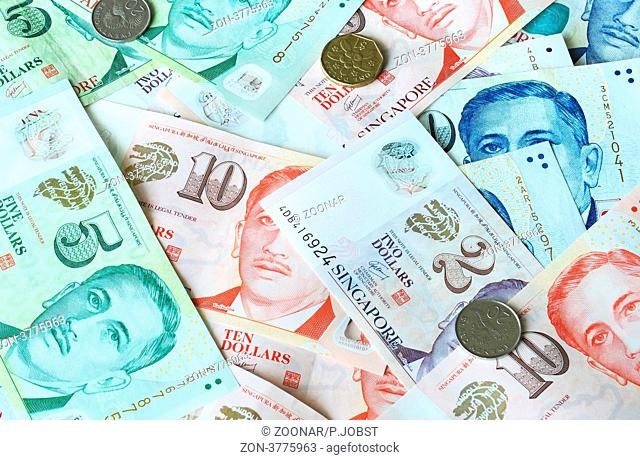Singapore dollar banknote Stock Photos and Images | age