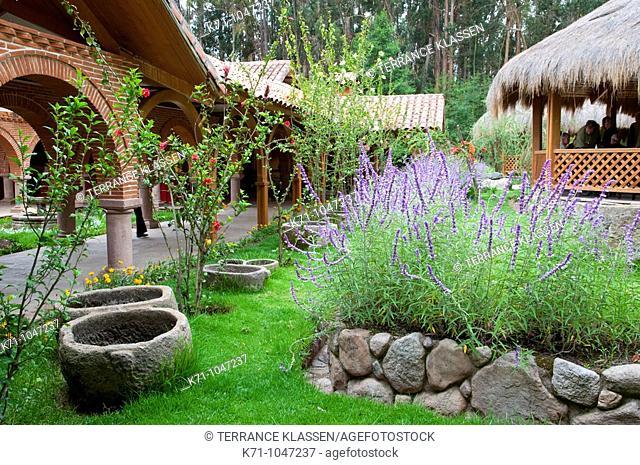 The Hacienda Alhambra restuarant in the Urubamba Valley near Ollantaytambo, Peru, South America