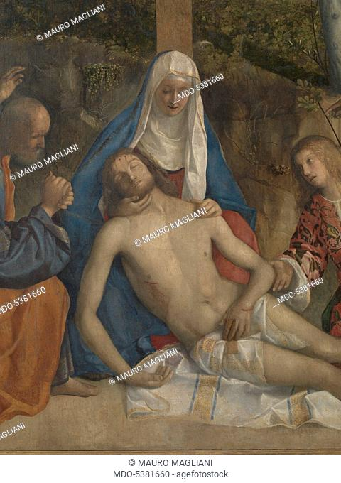 Lamentation of Christ (Compianto su Cristo morto), by Giovanni Bellini, 15th Century, oil on canvas