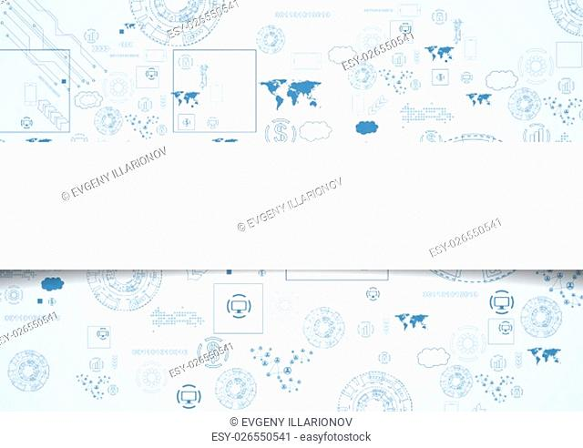 Tech engineering drawing abstract background