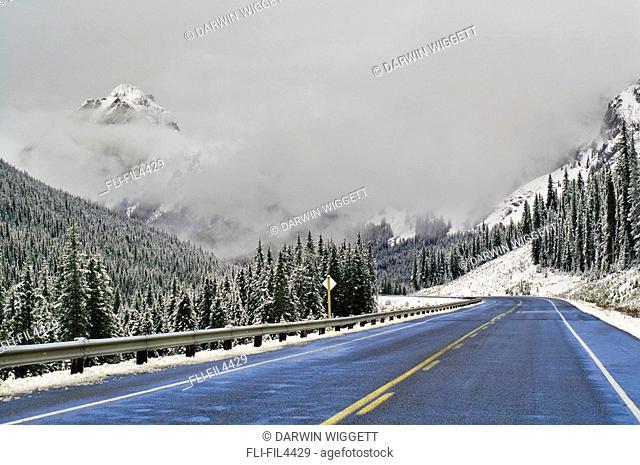 Highway 40 in Winter, Highwood Pass, Peter Lougheed Provincial Park, Alberta