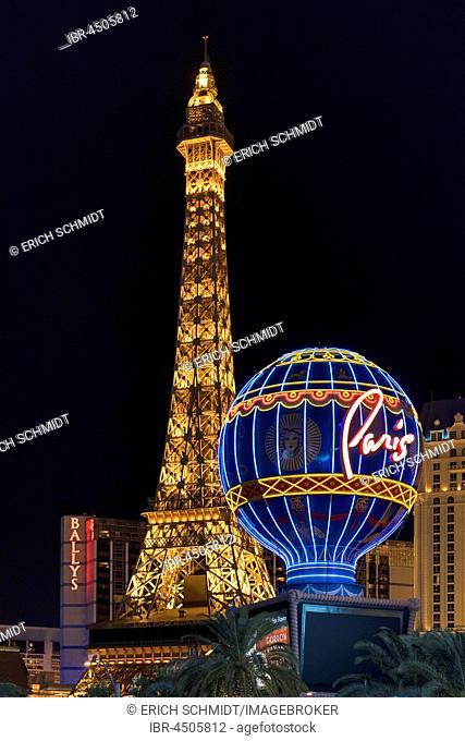 Paris Las Vegas Hotel and Casino on the Strip, Las Vegas, Nevada, USA