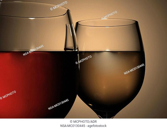 close up of wine glasses