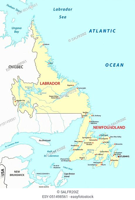 newfoundland and labrador vector map