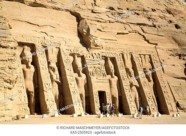 Hathor Temple of Queen Nefertari, Abu Simbel, Egypt