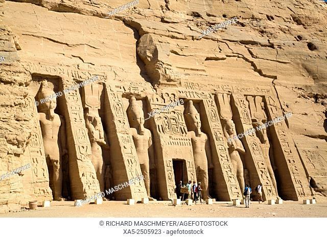 Hathor Temple of Queen Nefertari, Abu Simbel, Egypt