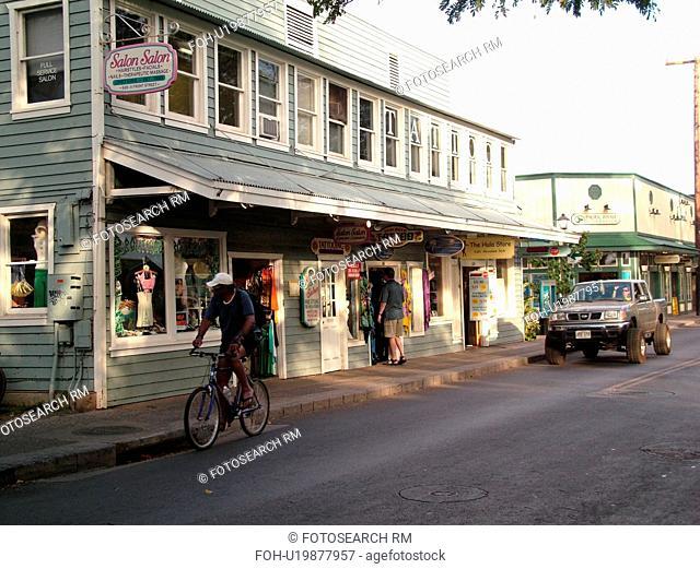 Lahaina, Maui, HI, Hawaii, West Maui, Historic Downtown, Front Street