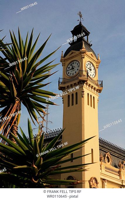 Spain, Valencia, Edificio Del Reloj, Clocktower