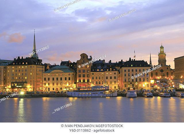 The Old Town at Sunset, Stockholm, Sweden