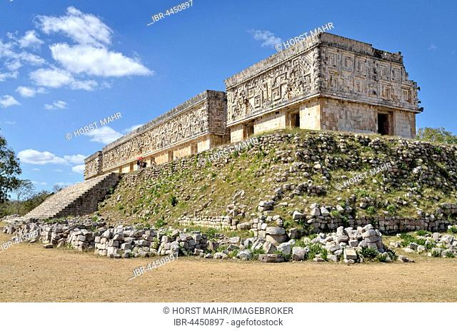 Palacio del Gobernador, governor's palace, Maya city of Uxmal, Yucatan, Mexico