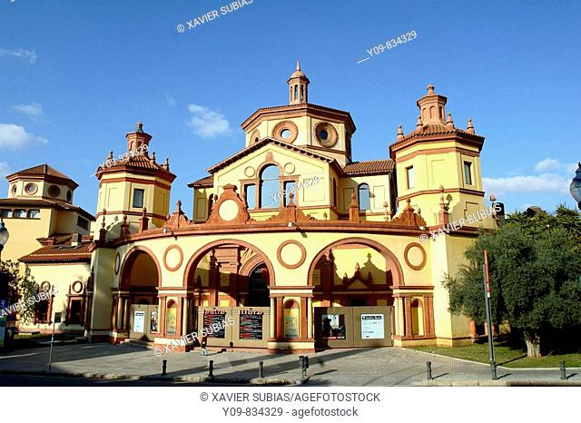 Old Palace of Agriculture (now Teatre Lliure), Montjuic, Barcelona. Catalonia, Spain