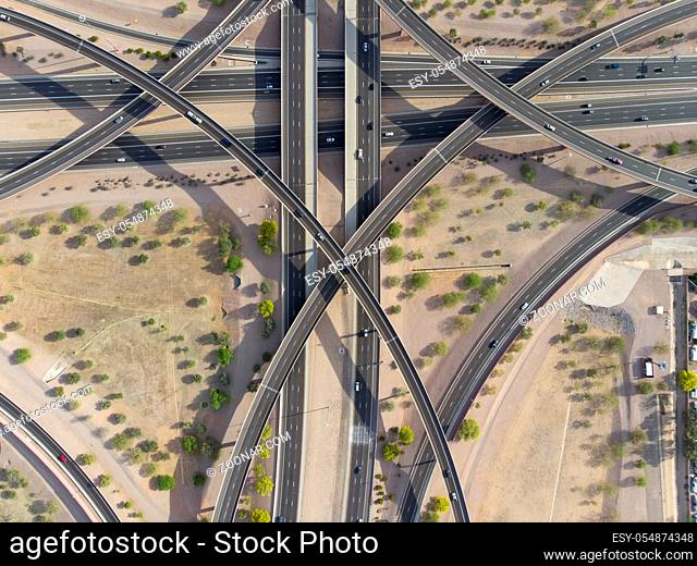 Overview of a major interstate in the United States