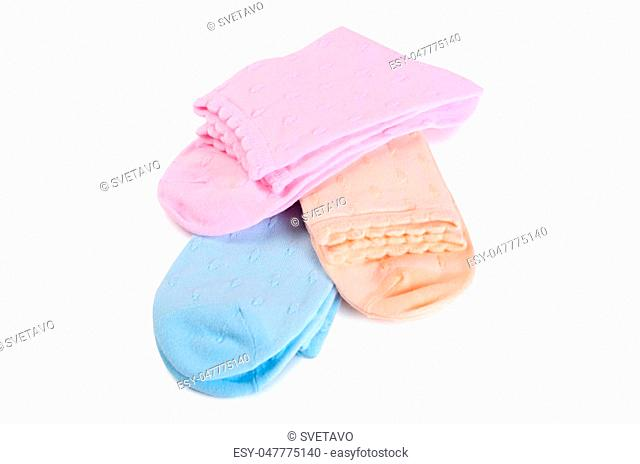 Women's socks isolated on a white background