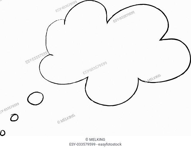 Line art drawning on white